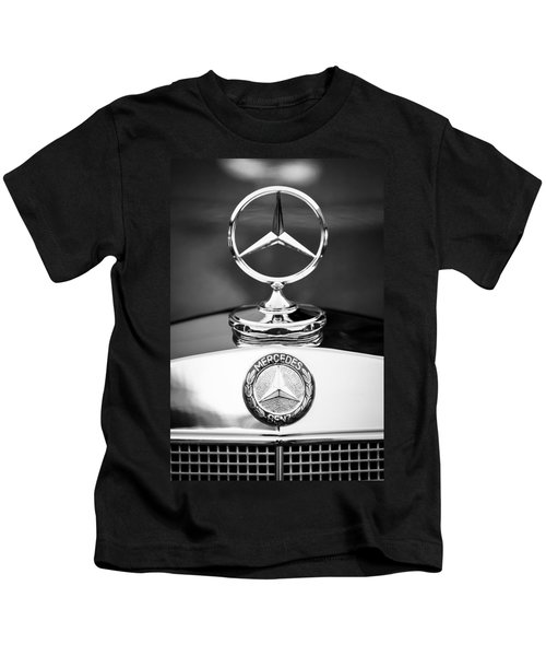 Kids T-Shirt featuring the photograph Mercedes-benz Hood Ornament by Jill Reger