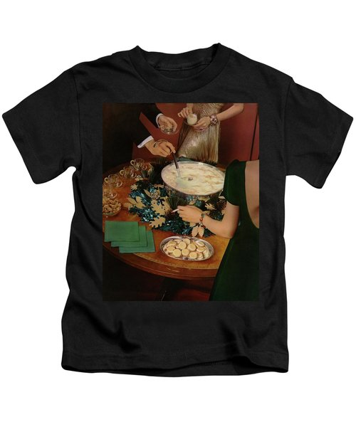 A Bowl Of Eggnog Kids T-Shirt