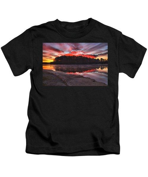 A Christmas Eve Sunrise Kids T-Shirt
