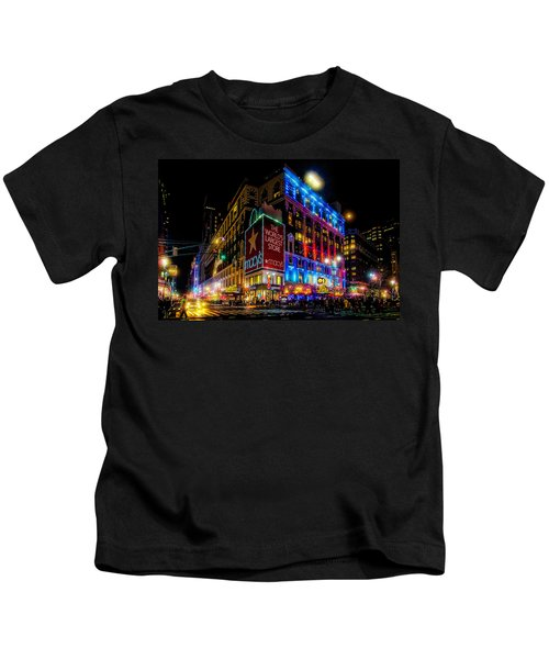 A December Evening At Macy's  Kids T-Shirt