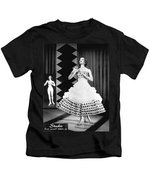 A Fashionable Mannequin And Her Unclothed Version In The Backgro Kids T-Shirt