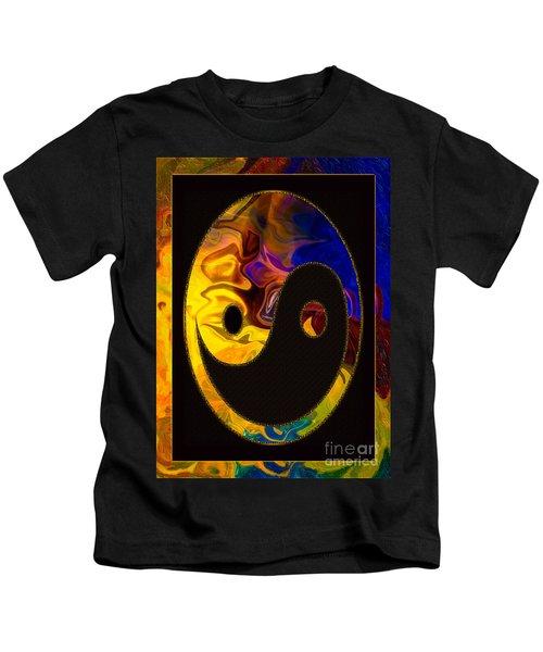 A Happy Balance Of Energies Abstract Healing Art Kids T-Shirt