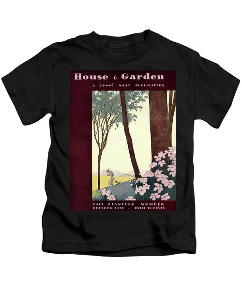 A House And Garden Cover Of A Rural Scene Kids T-Shirt