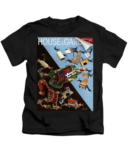A House And Garden Cover Of People Moving House Kids T-Shirt