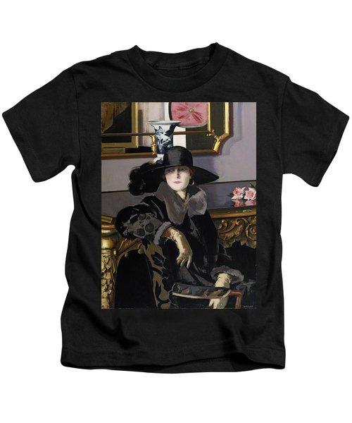 A Lady In Black Kids T-Shirt