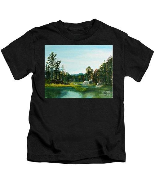 A Peak At Ampersand Mt. Kids T-Shirt