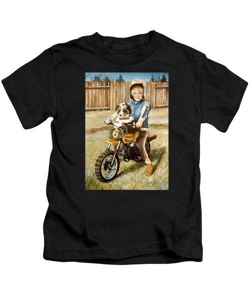 A Ride In The Backyard Kids T-Shirt