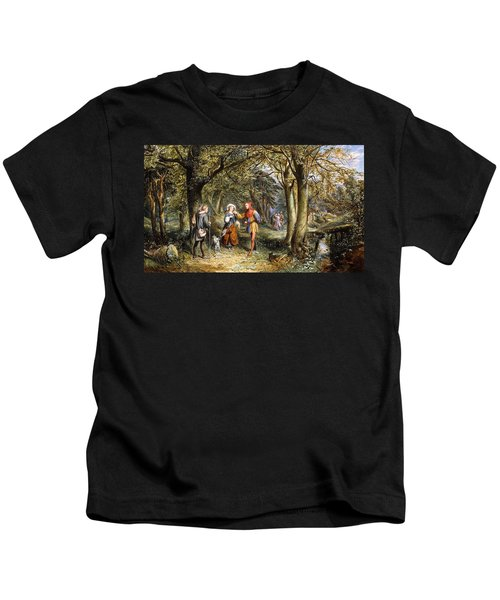A Scene From As You Like It Rosalind Celia And Jacques In The Forest Of Arden Kids T-Shirt