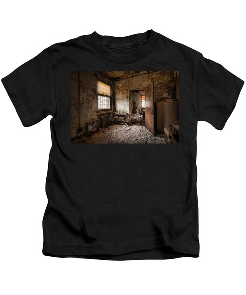 Abandoned Asylum - Haunting Images - What Once Was Kids T-Shirt