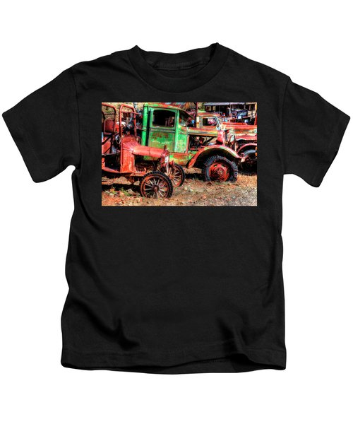Abandoned Trucks, Jerome, Yavapai Kids T-Shirt