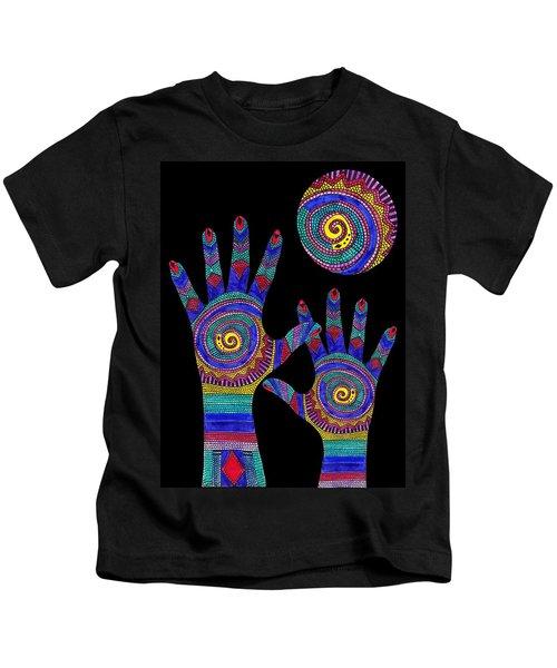 Aboriginal Hands To The Sun Kids T-Shirt