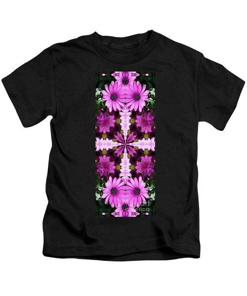Abstract Daisies Kids T-Shirt