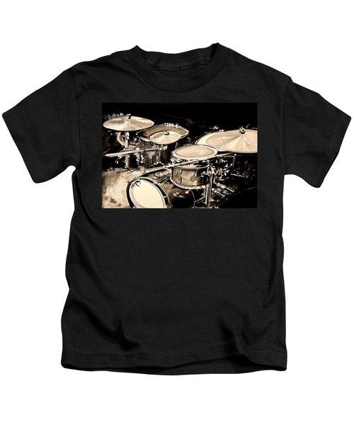 Abstract Drum Set Kids T-Shirt