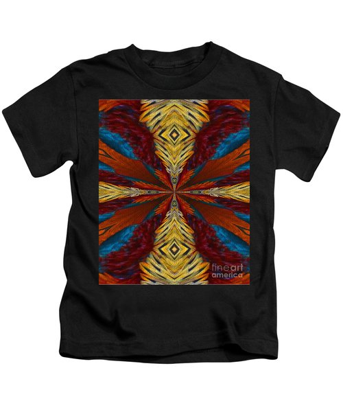 Abstract Feathers Kids T-Shirt