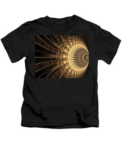Abstract Artwork Gold 1 Kids T-Shirt