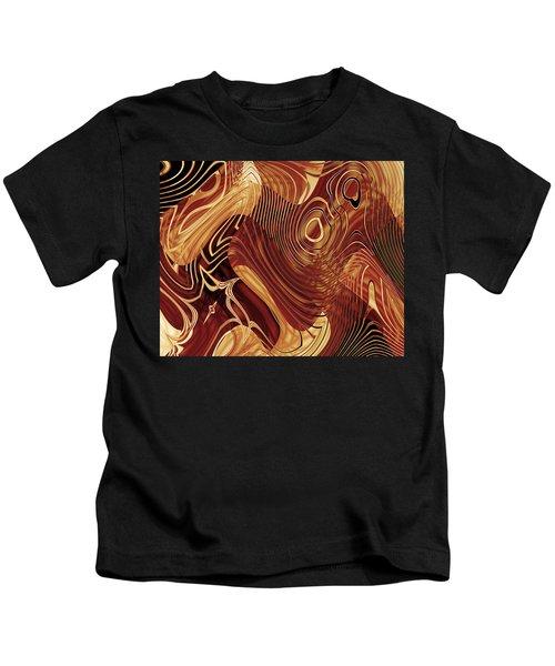 Abstract Artwork Gold 3 Kids T-Shirt