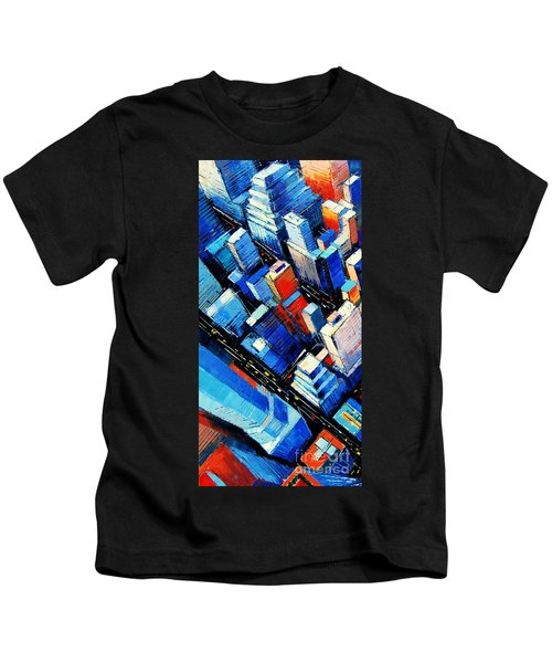 Abstract New York Sky View Kids T-Shirt