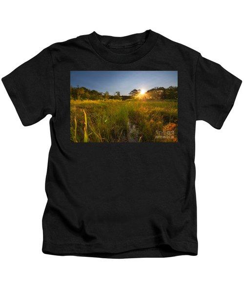 Acadia Marsh Sunrise  Kids T-Shirt
