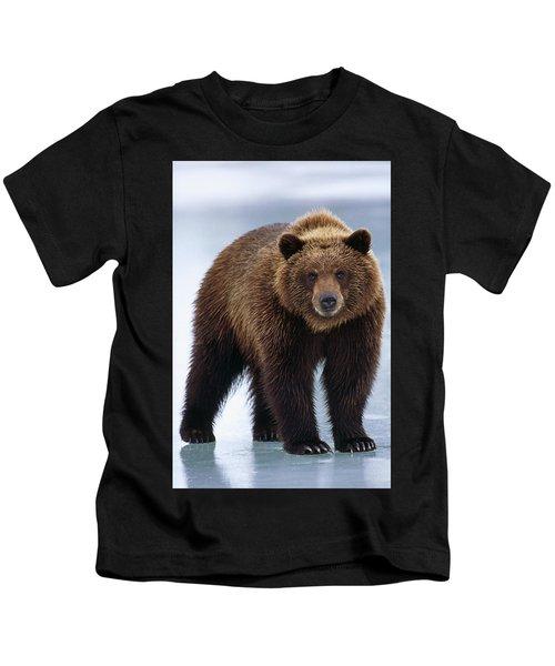 Adolescent Brown Bear Standing Kids T-Shirt