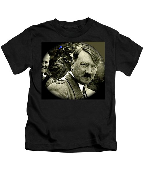 Adolf Hitler And A Feathered Friend C.1941-2008 Kids T-Shirt