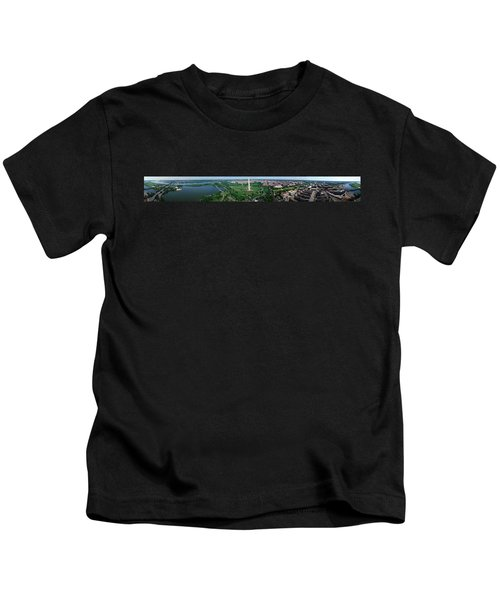 Aerial View Of A Monument, Tidal Basin Kids T-Shirt