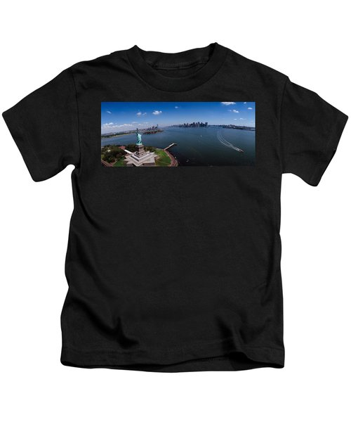 Aerial View Of A Statue, Statue Kids T-Shirt