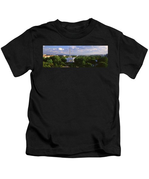 Aerial, White House, Washington Dc Kids T-Shirt