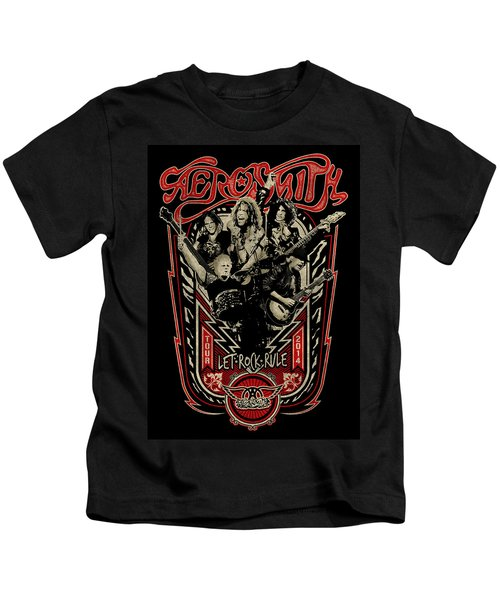 Aerosmith - Let Rock Rule World Tour Kids T-Shirt by Epic Rights