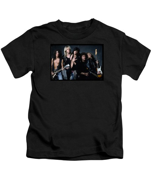 Aerosmith - Let The Music Do The Talking 1980s Kids T-Shirt by Epic Rights