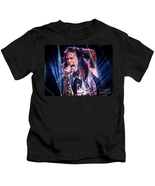 Aerosmith Steven Tyler Singing In Concert Kids T-Shirt