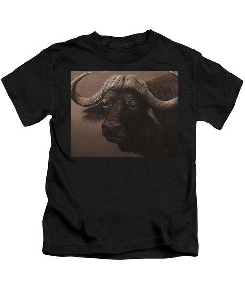 African Buffalo Kids T-Shirt