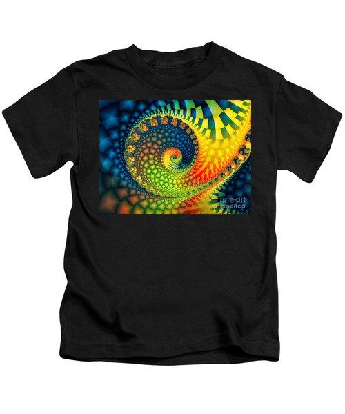 After The Rain-fractal Art Kids T-Shirt