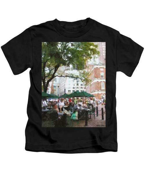 Afternoon At Faneuil Hall Kids T-Shirt