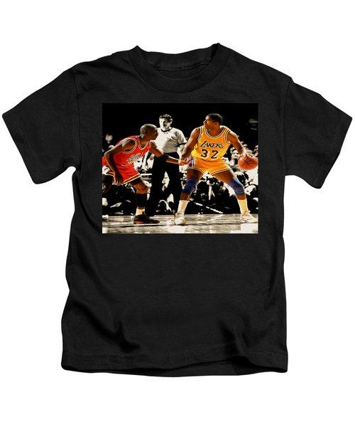 Air Jordan On Magic Kids T-Shirt by Brian Reaves