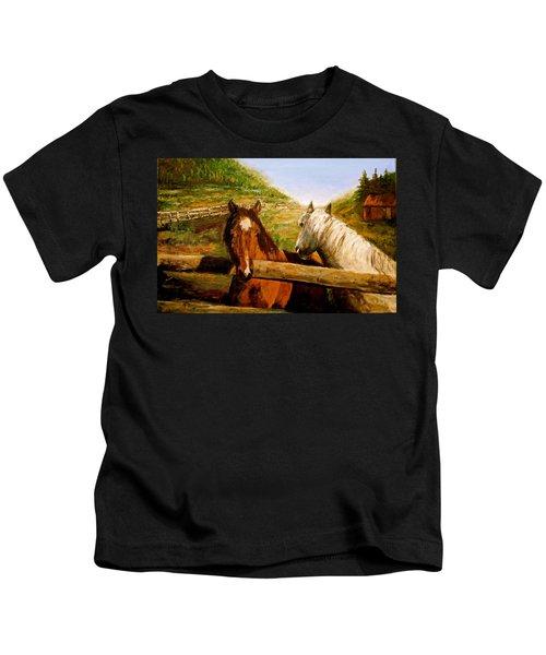 Alberta Horse Farm Kids T-Shirt