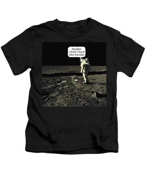 Alice Kramden On The Moon Kids T-Shirt
