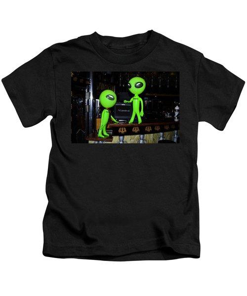 Alien Monitor Repair Kids T-Shirt