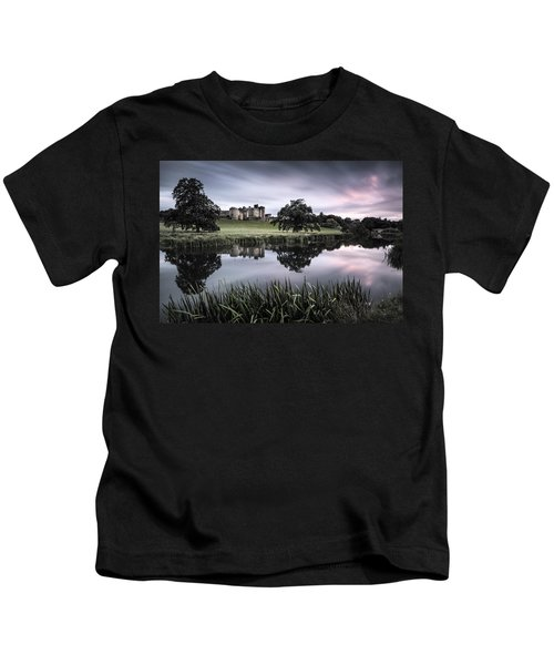 Alnwick Castle Sunset Kids T-Shirt