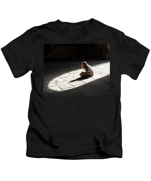Alone In A Pool Of Light Kids T-Shirt