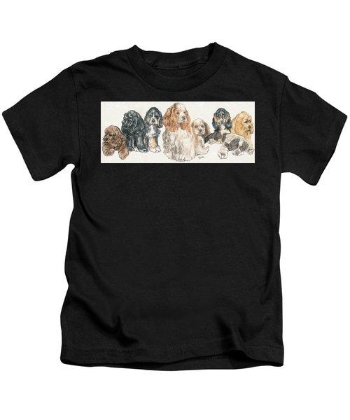 American Cocker Spaniel Puppies Kids T-Shirt