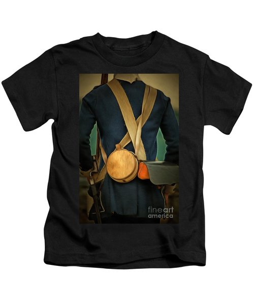 American Revolutionary Soldier Kids T-Shirt
