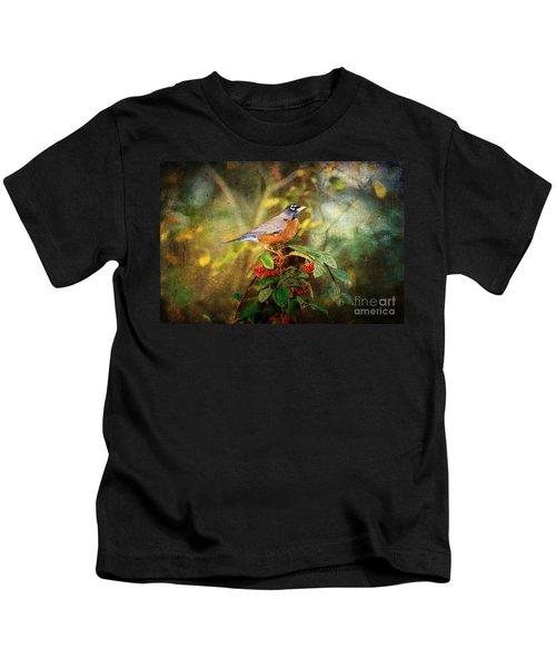 American Robin - Harbinger Of Spring Kids T-Shirt