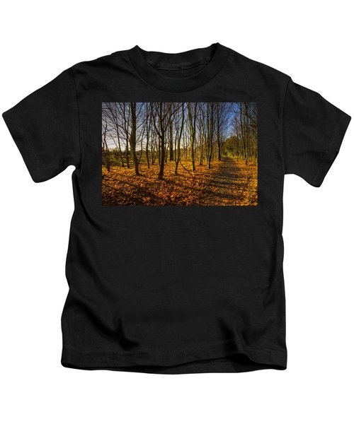 An Autumn Walk Kids T-Shirt