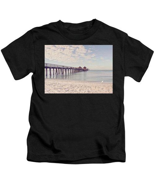 An Early Morning - Naples Pier Kids T-Shirt