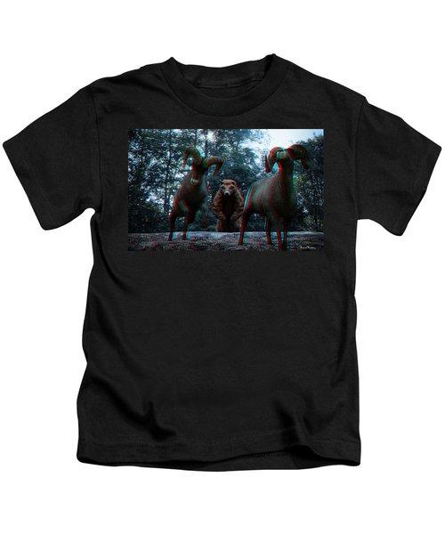 Anaglyph Wild Animals Kids T-Shirt