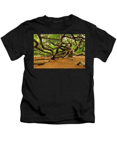 Angel Oak Tree Branches Kids T-Shirt