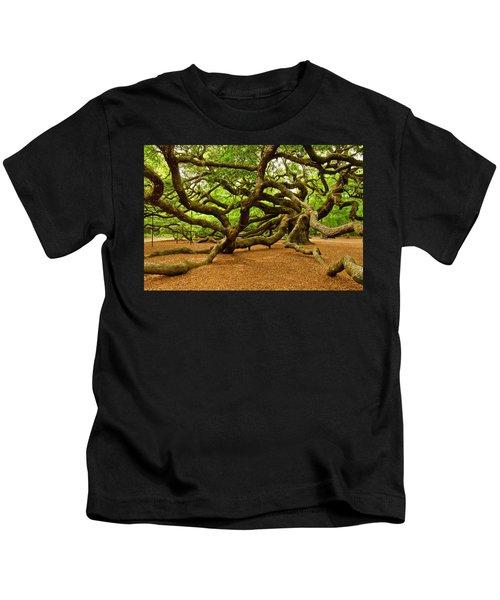 Angel Oak Tree Branches Kids T-Shirt