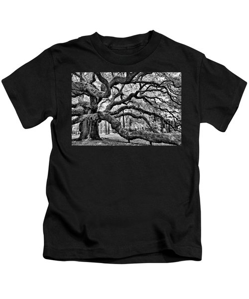 Angel Oak Tree Ir Hdr Kids T-Shirt