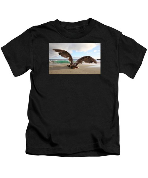 Angels- For The Lord Himself Will Descend From Heaven With A Shout Kids T-Shirt