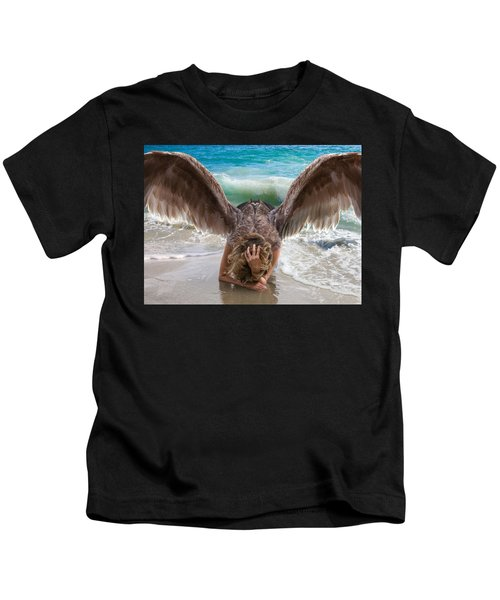 Angels- I Will Not Give Up On You Kids T-Shirt